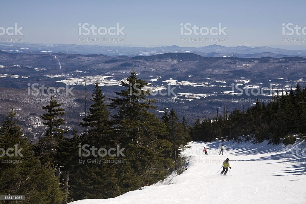 Skiing down Jester stock photo
