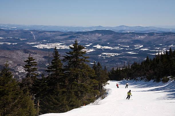 Skiing down Jester stock photo
