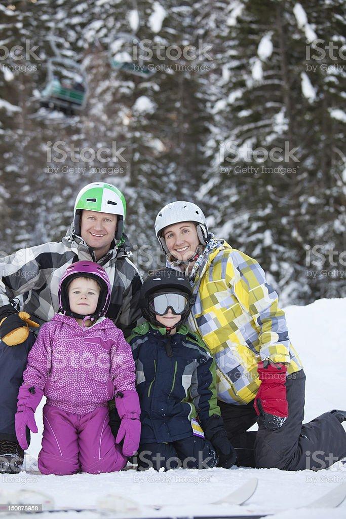 Skiing Family royalty-free stock photo