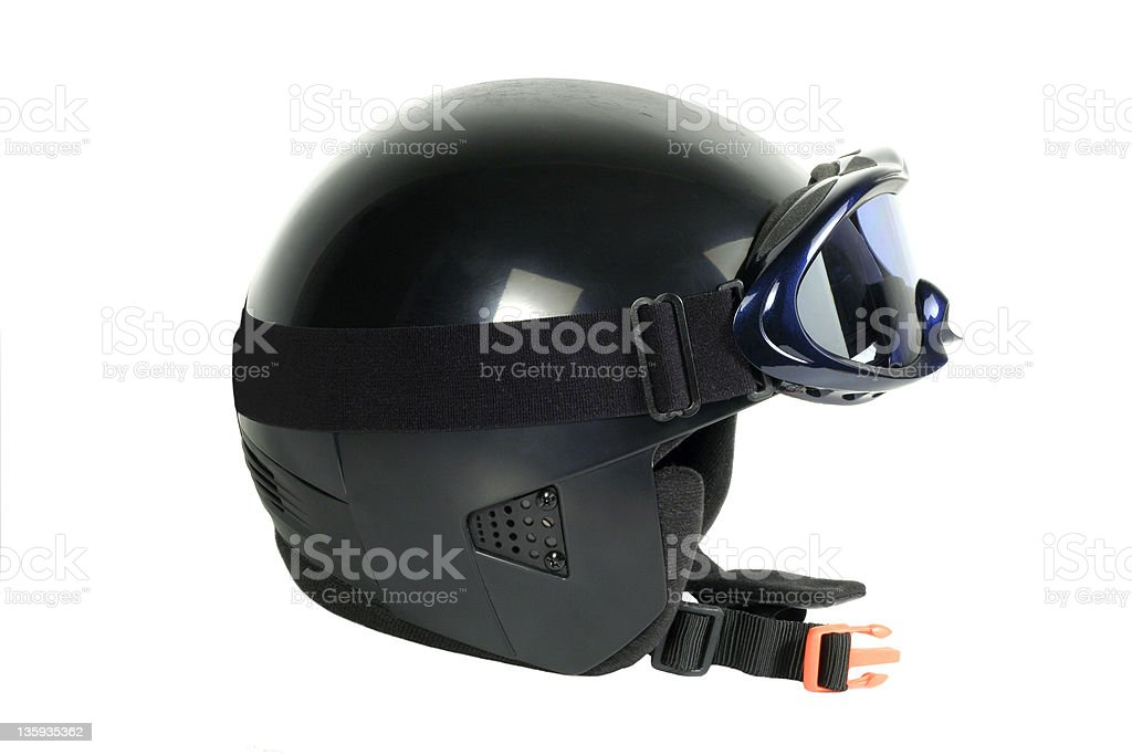 skiing helmet royalty-free stock photo