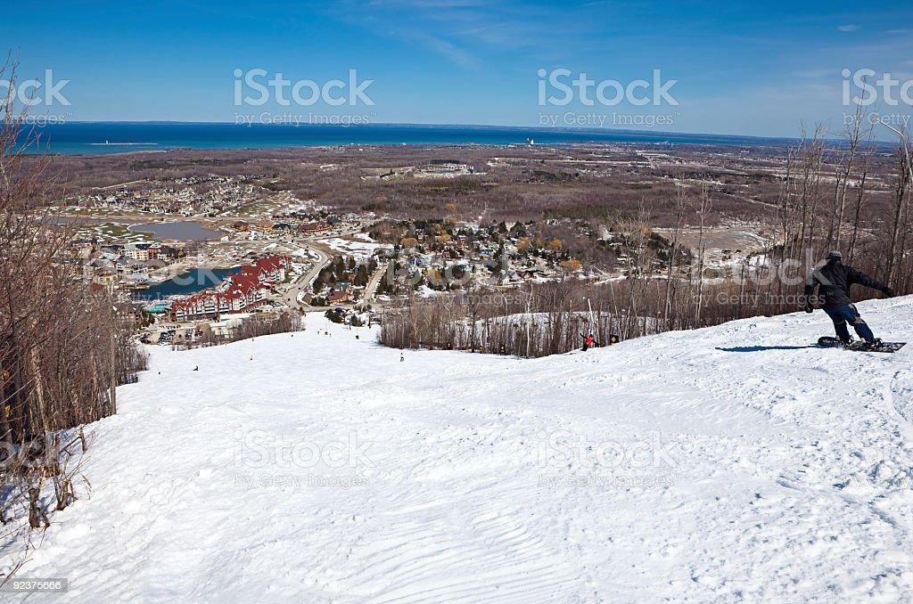 Skiing Hill stock photo