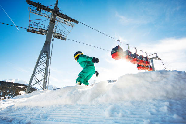 skidåkning i österrike - winter austria train bildbanksfoton och bilder