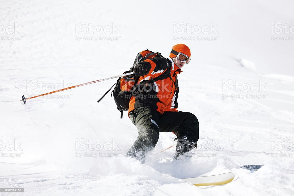 Skiing in France stock photo