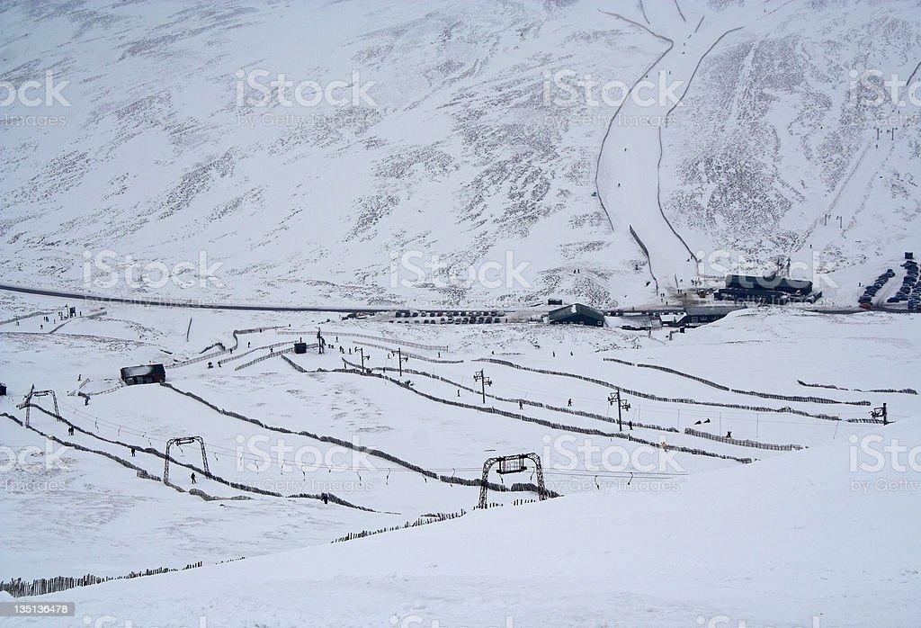 Skiing in Scotland - Glenshee ski resort royalty-free stock photo