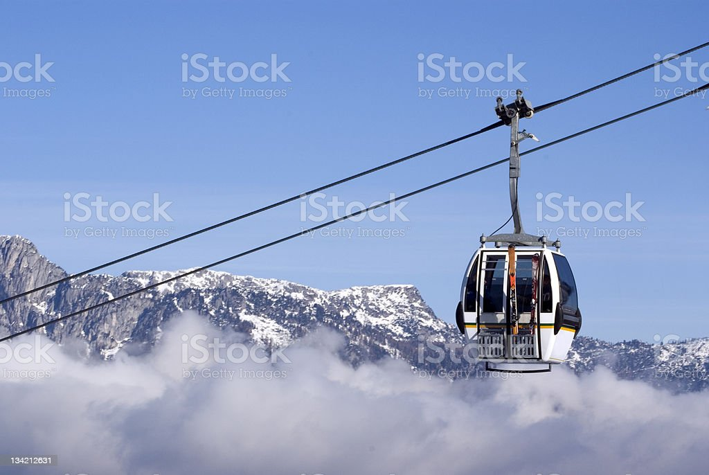 Skiing in the Alps royalty-free stock photo