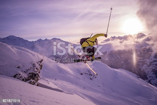 istock Skiing in Verbier 621821514