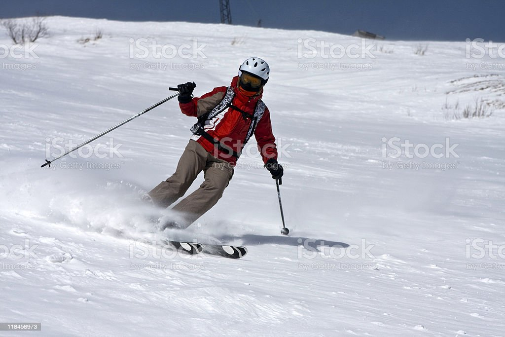 Skiing on Cheget royalty-free stock photo