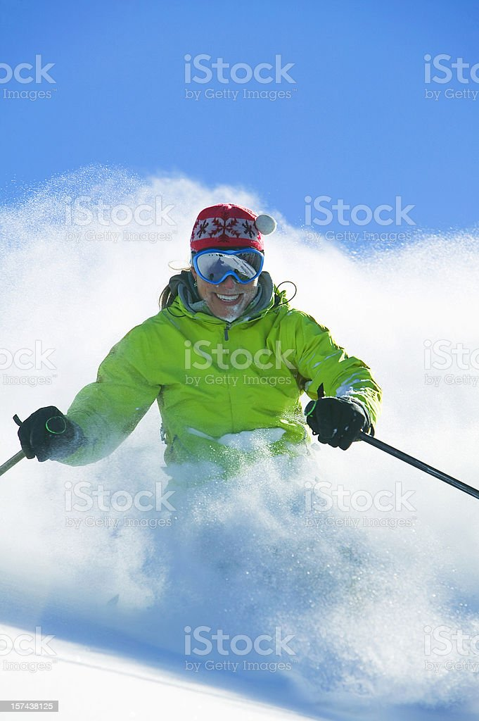 Skiing powder royalty-free stock photo