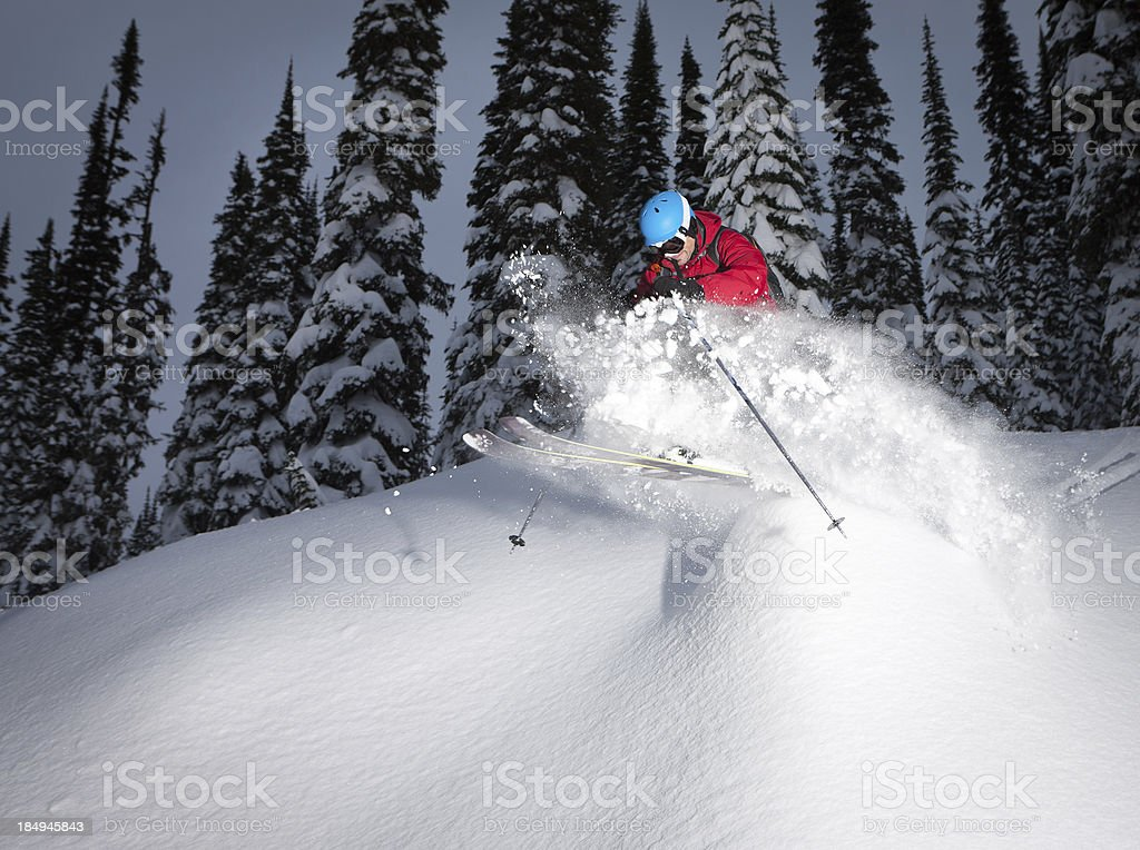 Skiing Powder royalty-free stock photo