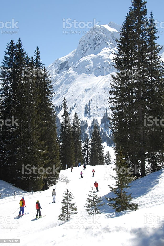 Skiing Resort Arlberg stock photo