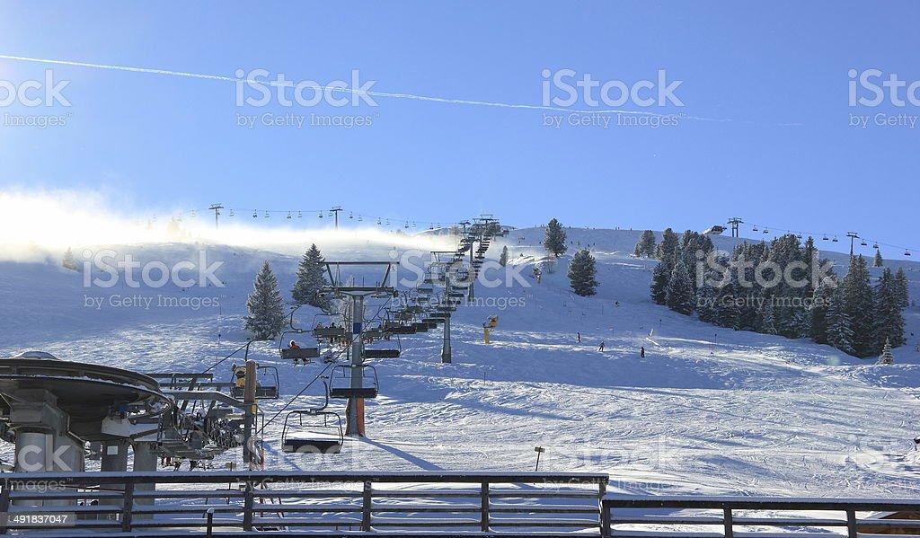 Skiing Resort Zillertal Arena. Gerlos, Austria. stock photo