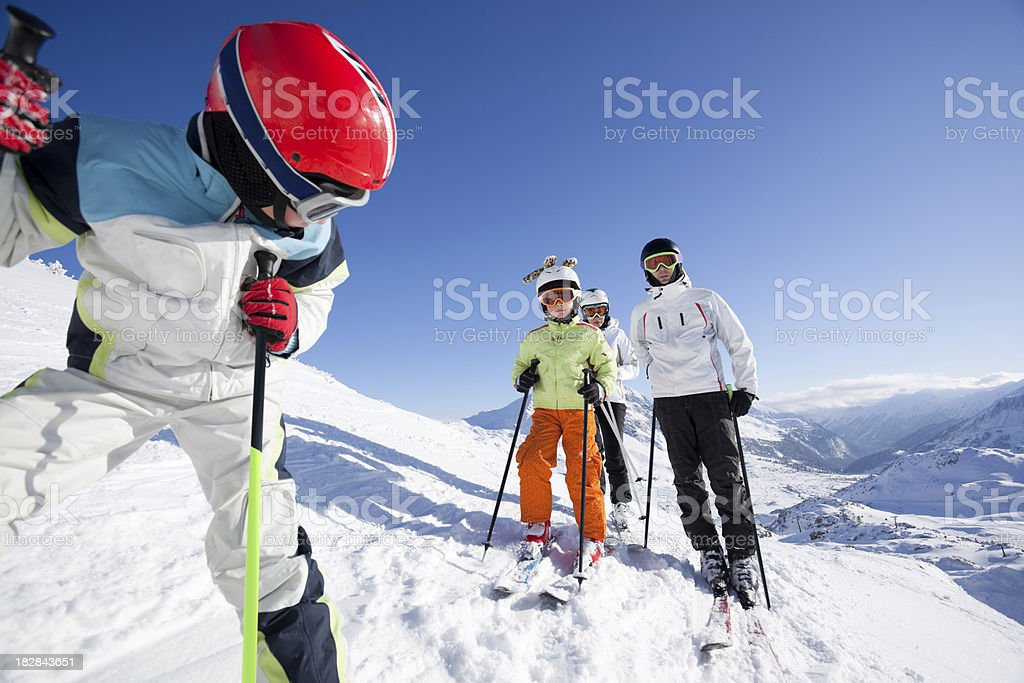 skiing safe royalty-free stock photo