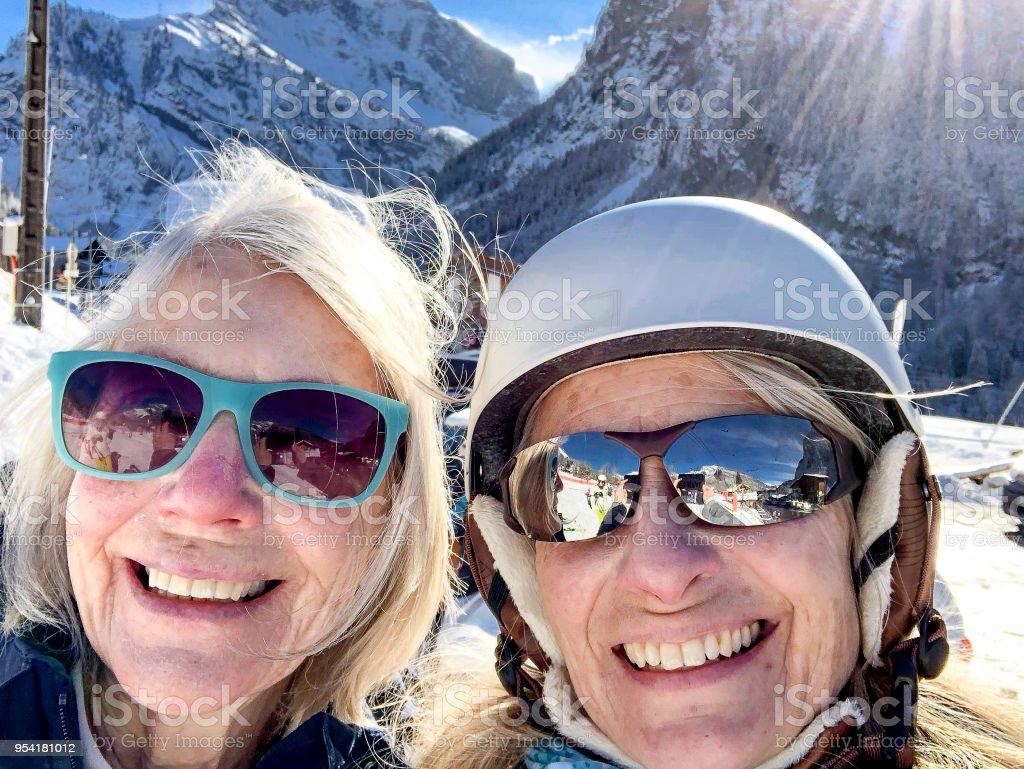 Ski Selfie auf der Piste – Foto