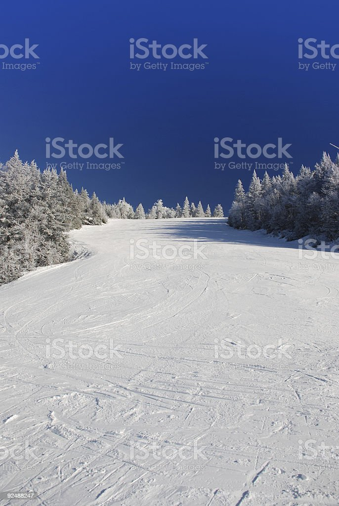 Skiing slope royalty-free stock photo