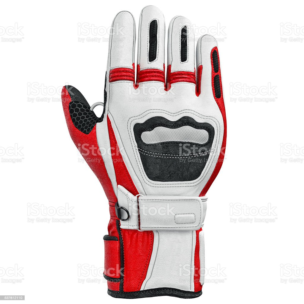 Skiing sports glove isolated, front view stock photo