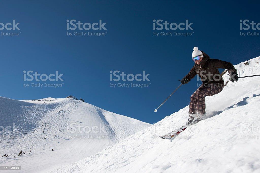 Skiing Telluride Colorado royalty-free stock photo