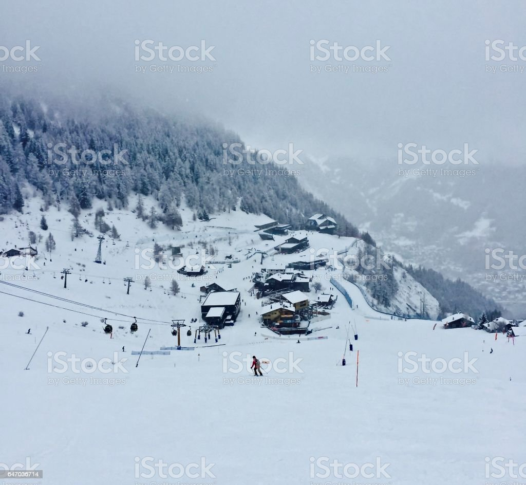 Skiing Trail stock photo