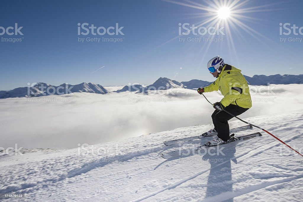 Skiing Winter sport stock photo