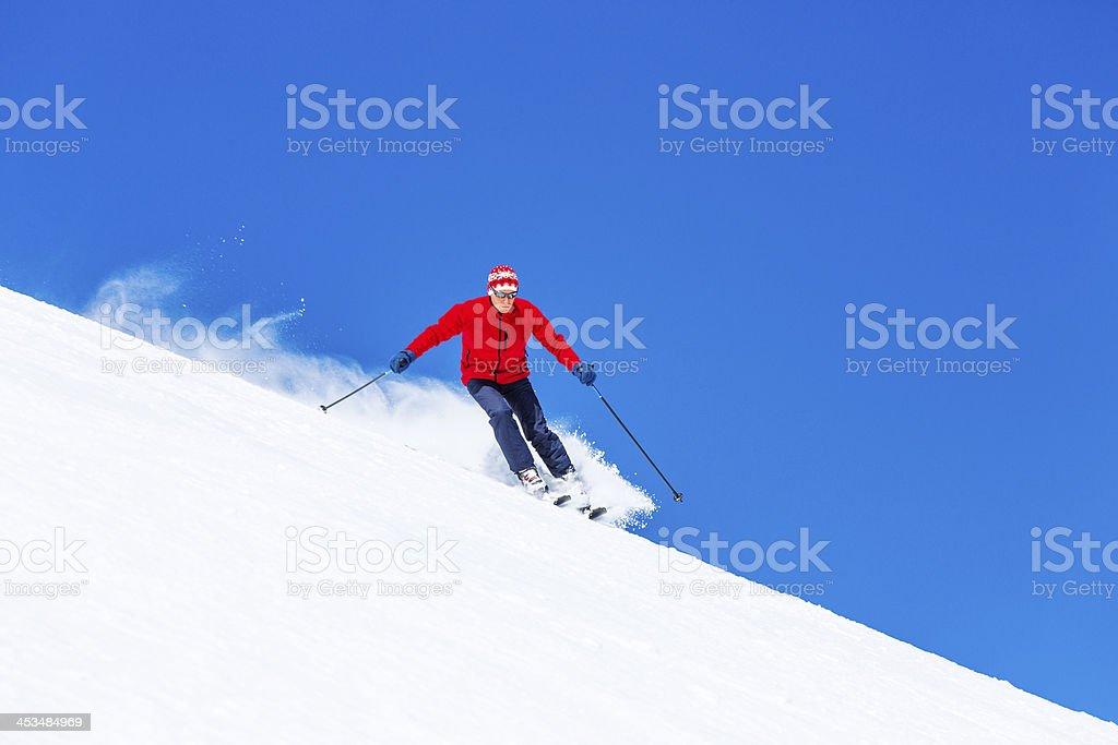 Skiing - Winter Sport royalty-free stock photo