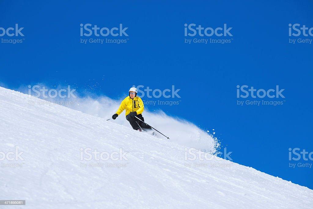 Skiing - Winter Sport stock photo