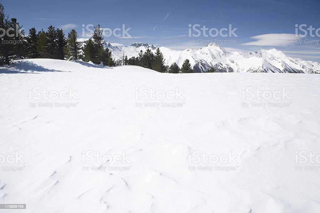 Skiing with a View stock photo