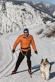 istock Skijoring 947552118