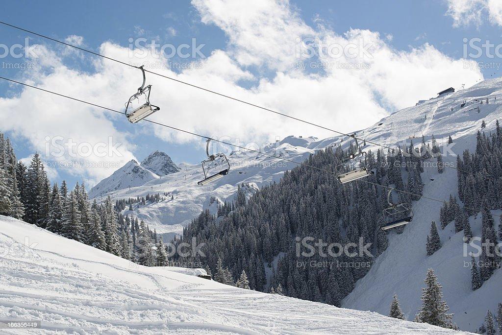 Skilift in Montafon valley royalty-free stock photo