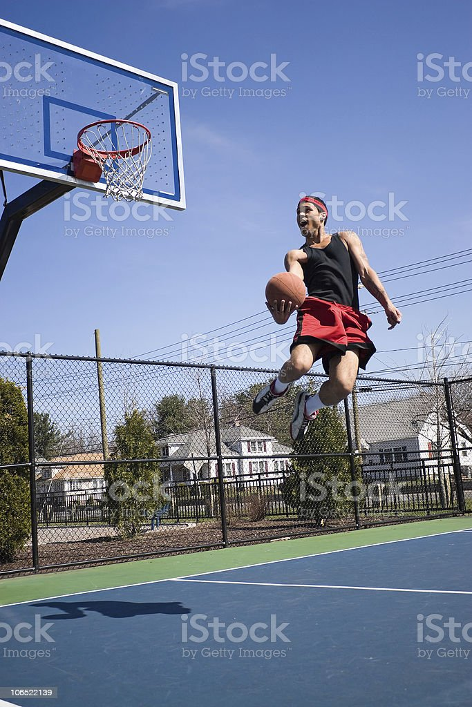 Skilled Basketball Player royalty-free stock photo