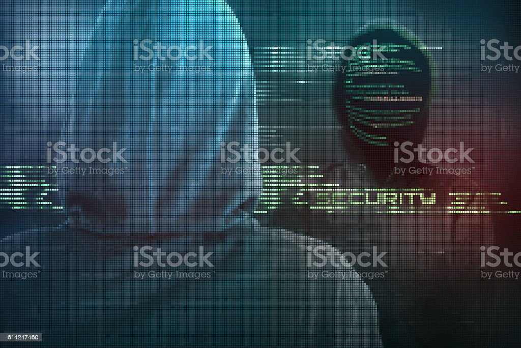 Skilled computer expert protects your computer from hackers cy stock photo