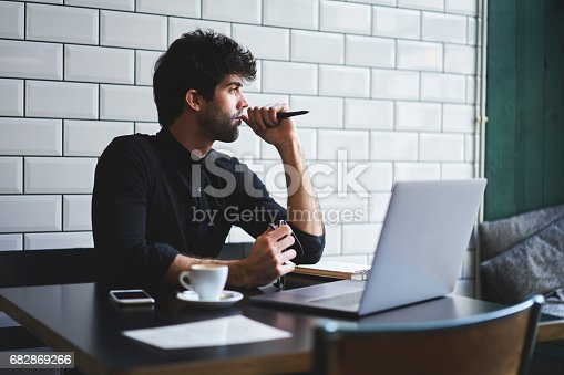 istock Skilled male journalist 682869266
