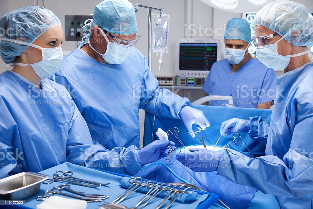 Skilled Surgical Team stock photo