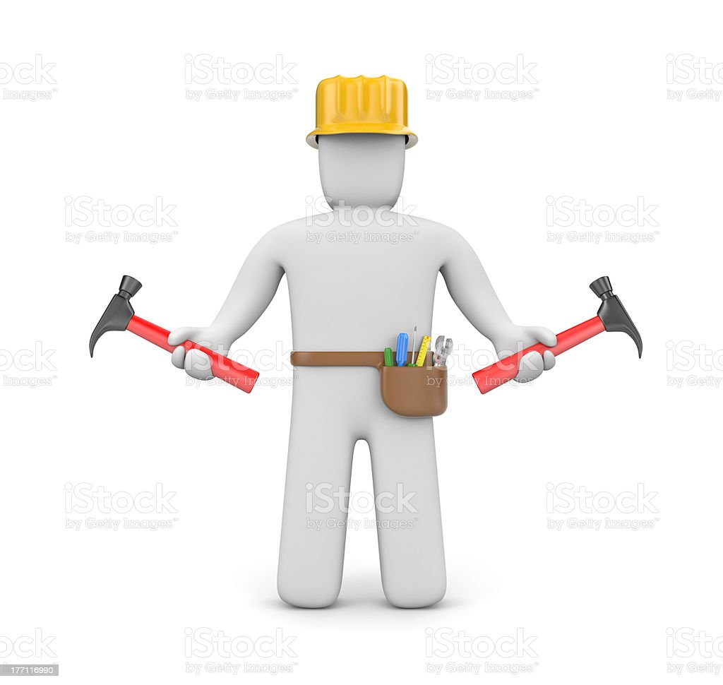Skilled worker royalty-free stock photo