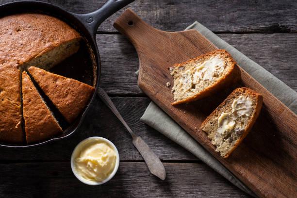 Skillet Banana Bread stock photo