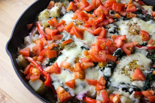 Skillet Breakfast stock photo