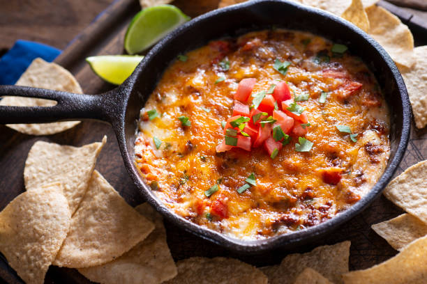 Skillet Queso stock photo