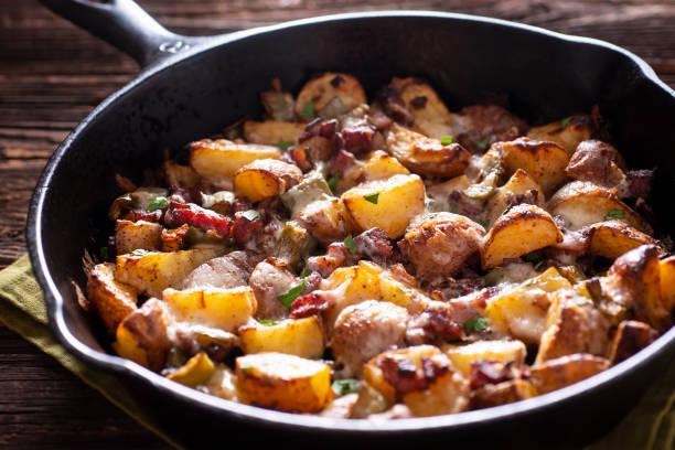 Skillet Roasted Potatoes stock photo