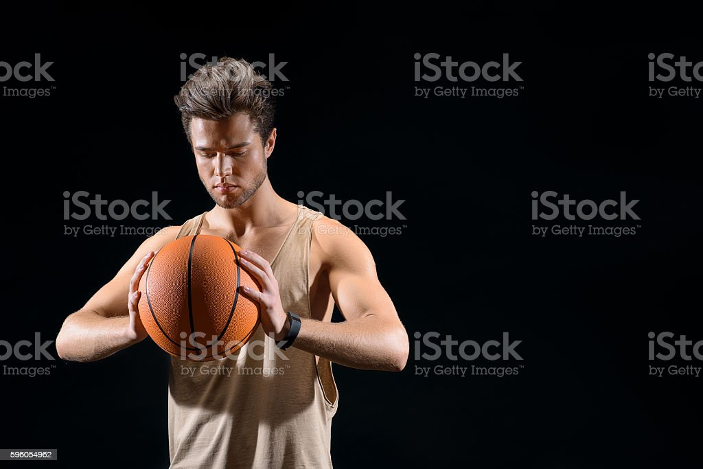 Skillful basketball player ready for competition royalty-free stock photo