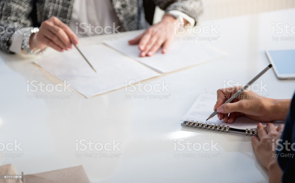 Skillful ladies are working together stock photo