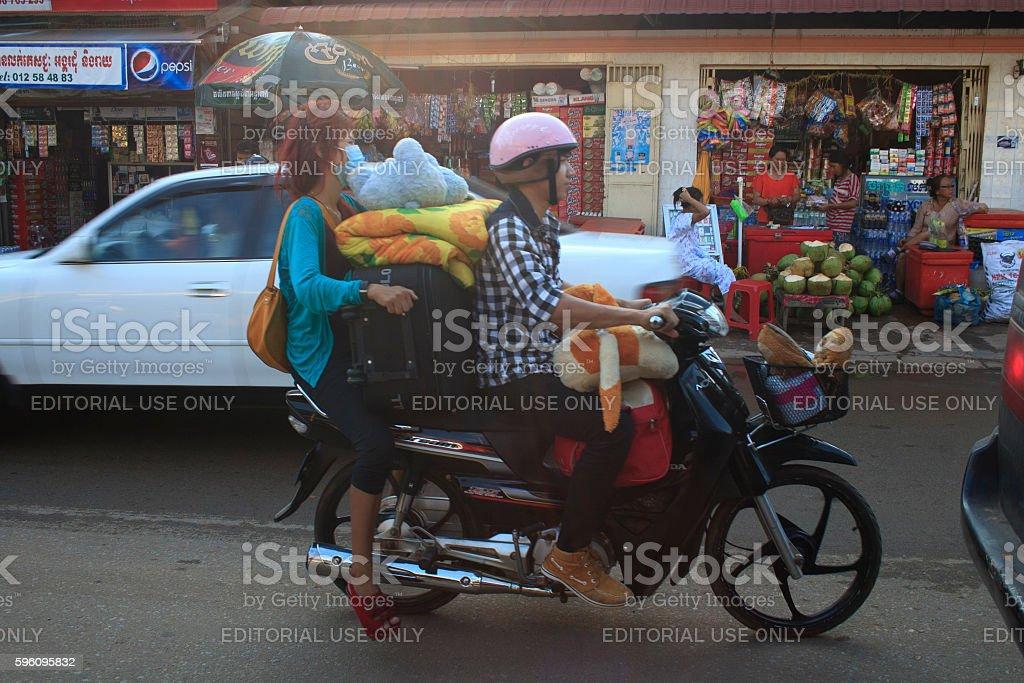 Skillful motorbike driver Lizenzfreies stock-foto