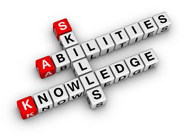 Skills, Knowledge, Abilities stock photo