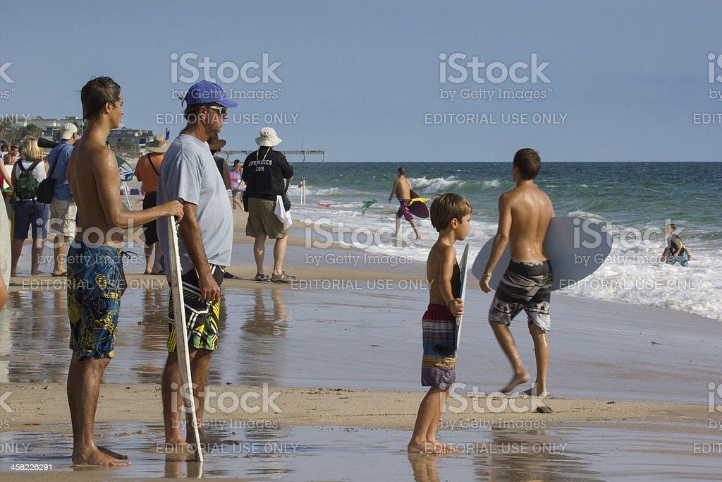 Skim Board Competitors royalty-free stock photo