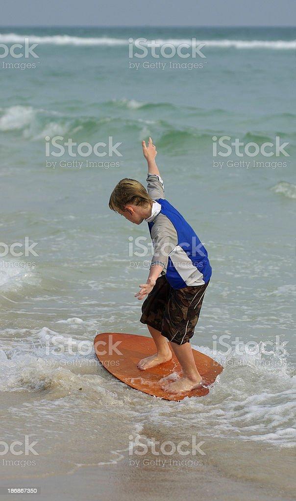 Skimboard Action stock photo