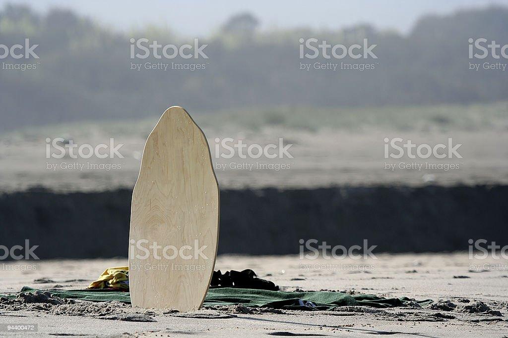 skimming board stock photo