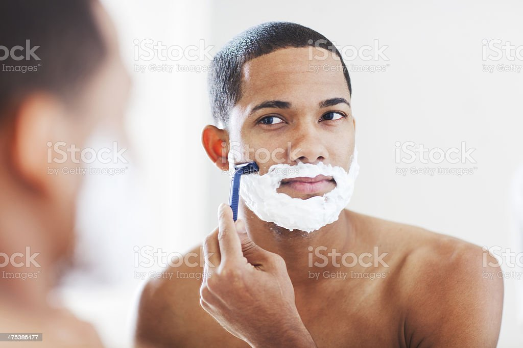 Skin care and shaving. stock photo