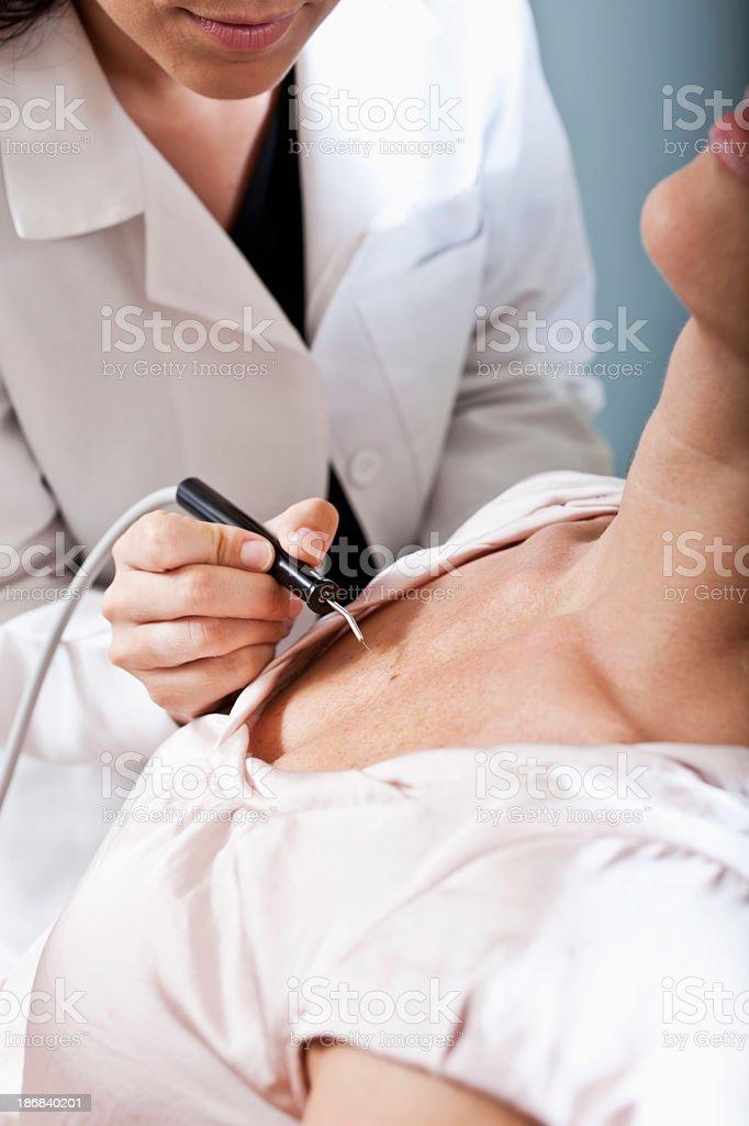 Skin care at medical spa stock photo