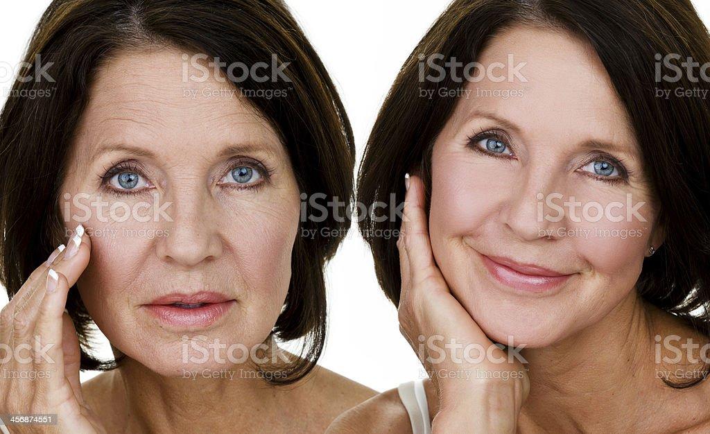 Concetto di cura della pelle - foto stock