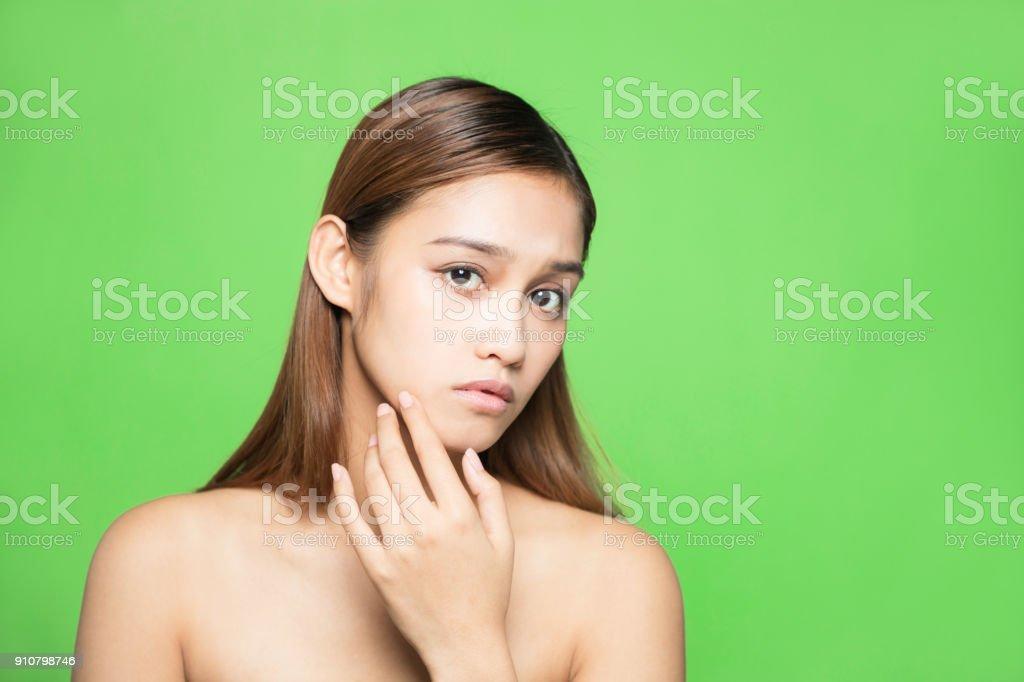Skin care concept. stock photo
