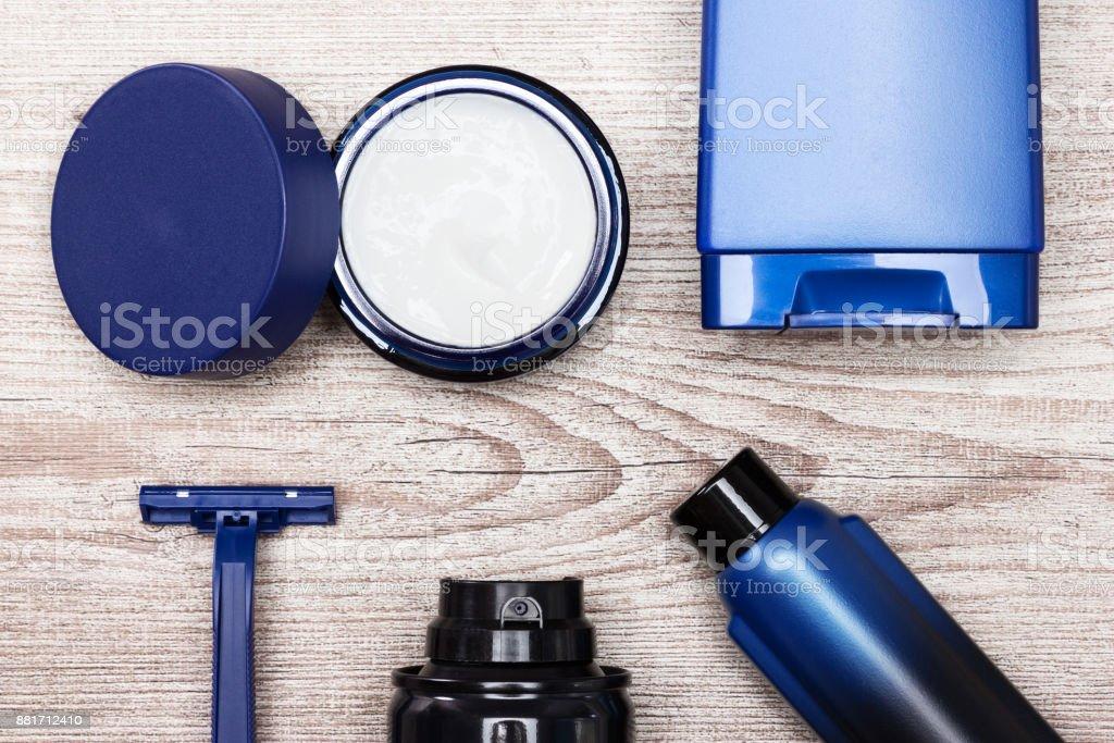 Skin care cosmetics for men stock photo