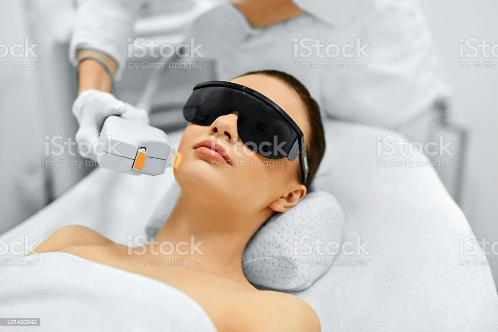 Skin Care. Face Beauty Treatment. IPL. Photo Facial Therapy. Ant royalty-free stock photo