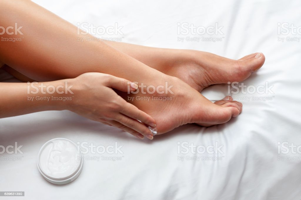 Skin care for feet - foto de stock